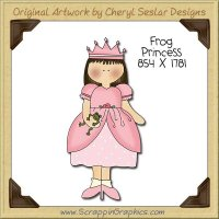 Frog Princess Single Clip Art Graphic Download