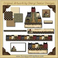 House On The Hill Web Set Graphics Clip Art Download