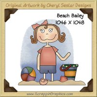 Beach Bailey Single Graphics Clip Art Download