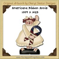 Americana Ribbon Annie Single Graphics Clip Art Download
