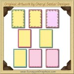 Bright Card Starters SamplerPrintable Craft Download
