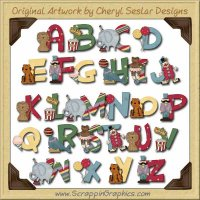 Circus Alphabet & Numbers Clip Art Download