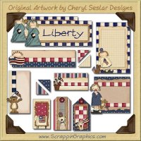 Land Of Liberty Journaling Delights Digital Scrapbooking Graphics Clip Art Download