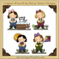 Sweet Little Girls Collection Graphics Clip Art Download