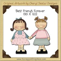 Best Friends Forever Single Clip Art Graphic Download