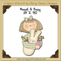 Hannah & Bunny Single Graphics Clip Art Download