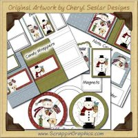 Winter Wonderland Craft Show Kit Graphics Clip Art Download