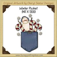 Winter Pocket Single Graphics Clip Art Download