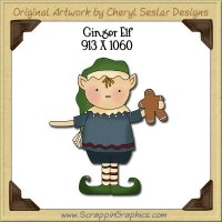 Ginger Elf Single Graphics Clip Art Download