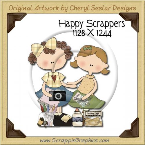 Happy Scrappers Single Graphics Clip Art Download