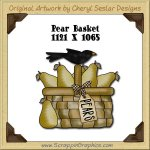Pear Basket Single Graphics Clip Art Download
