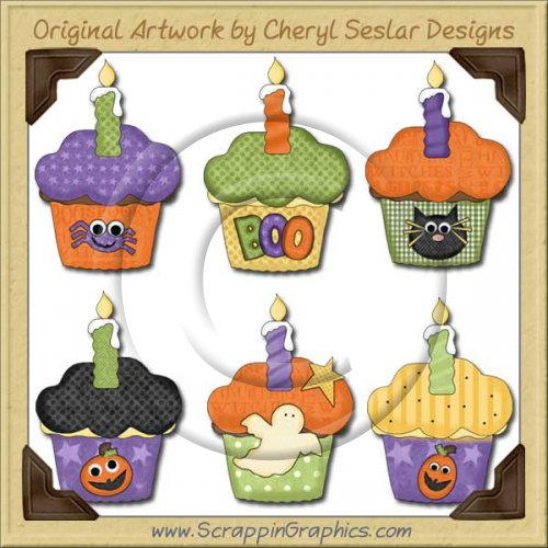 Halloween Cupcakes Limited Pro Graphics Clip Art Download