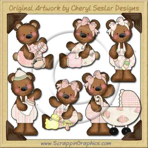 Raggedy Bears Baby Girl Graphics Clip Art Download