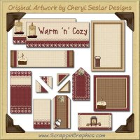 Savory Autumn Journaling Delights Digital Scrapbooking Graphics Clip Art Download