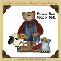 Farmer Bear Single Graphics Clip Art Download