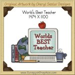 World's Best Teacher Single Graphics Clip Art Download