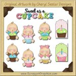 Sweet Little Cupcakes Limited Pro Graphics Clip Art Download