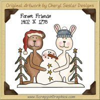 Forest Friends Single Graphics Clip Art Download