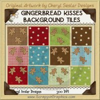 Gingerbread Kisses Background Tiles Clip Art Graphics