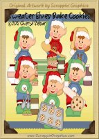 Sweater Elves Bake Cookies Cutter Cutting Files Collection