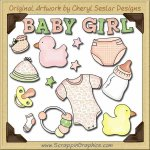 Baby Girl Elements Collection Graphics Clip Art Download