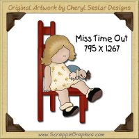 Miss Time Out Single Graphics Clip Art Download