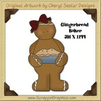 Gingerbread Baker Single Graphics Clip Art Download
