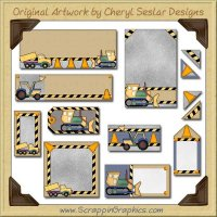 Construction Journaling Delights Digital Scrapbooking Graphics Clip Art Download