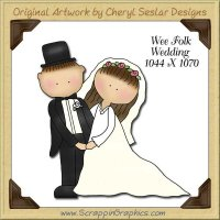 Wee Folk Wedding Single Graphics Clip Art Download