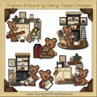 Raggedy Bears Prim Home Graphics Clip Art Download