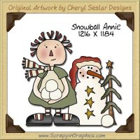 Snowball Annie Single Graphics Clip Art Download