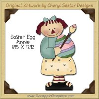 Easter Egg Annie Single Clip Art Graphic Download
