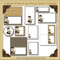 Graduate Boy Printable Pack Graphics Clip Art Download