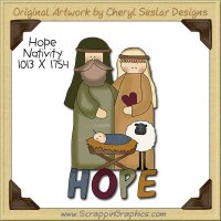 Hope Nativity Single Clip Art Graphic Download