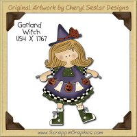 Garland Witch Single Clip Art Graphic Download
