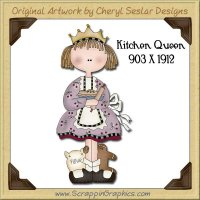 Kitchen Queen Single Graphics Clip Art Download