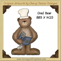 Chef Bear Single Graphics Clip Art Download