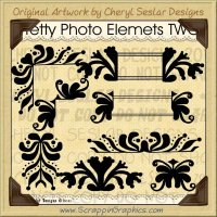 Pretty Photo Elements Two Limited Pro Clip Art Graphics