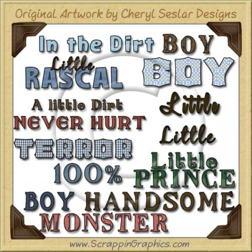 All Boy Titles Graphics Clip Art Download