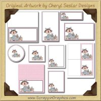 Shabby Annie Printable Pack Graphics Clip Art Download