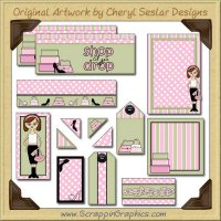 Shopaholic Journaling Delights Digital Scrapbooking Graphics Clip Art Download