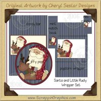 Santa & Little Rudy Wrapper Set Printable Craft Collection G