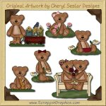 Spring Bears Collection Graphics Clip Art Download
