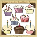 Cute Cupcakes Graphics Clip Art Download