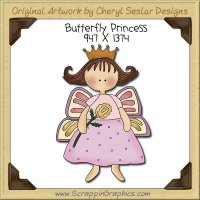 Butterfly Princess Single Clip Art Graphic Download