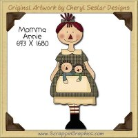 Momma Annie Single Clip Art Graphic Download