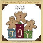 Joy Trio Single Clip Art Graphic Download
