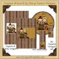 Be Thankful Wrapper Set Printable Craft Collection Graphics Clip