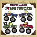 Monster Trucks Collection Graphics Clip Art Download