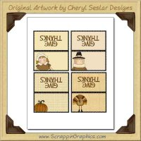 Thanksgiving Place Cards Printable Craft Graphic Clip Art Downlo